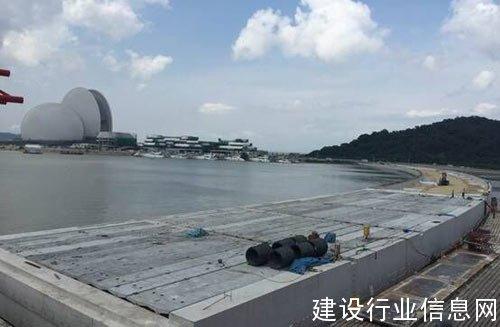 中交四航局珠海香洲渔港改造工程II标段主体结构