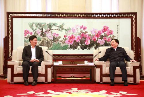 中国中铁总裁张宗言会见洛阳市市委书记