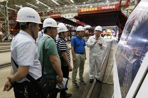 甘肃省建设监理公司一行来岛隧工程参观