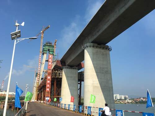 昌赣高铁赣州赣江特大桥进入全面冲刺阶