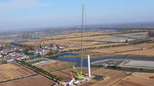 首秀即吊装国内最高塔筒风机 中联重