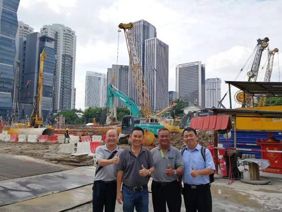 中联重科旋挖钻挺进马来西亚 助力多个国