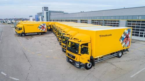 曼恩商用车向克罗地亚邮政交付27辆卡车