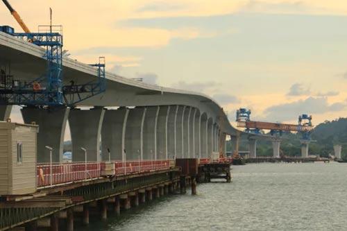 """文莱首座跨海大桥竣工!""""一带一"""