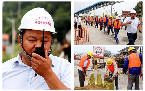 中铁大桥局连镇铁路项目部一分部 开展防洪防汛