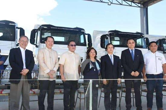 阿罗约出席中国重汽菲律宾4S店开业仪式