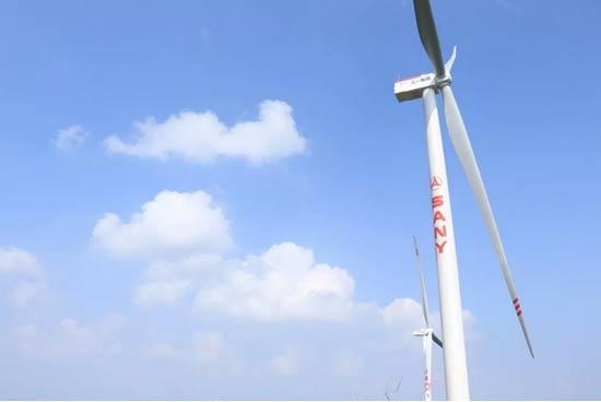 三一东湖塘风场206天全容量并网,创造最快山