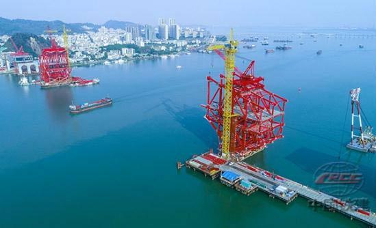 中铁大桥局承建的广州明珠湾大桥复工