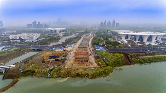 襄阳东西轴线鱼梁洲段项目复工后取得新进展