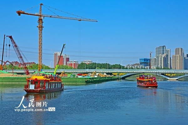 北京通州运河城市段游船开航