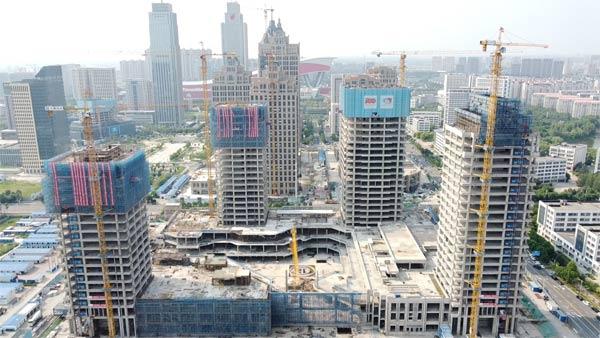 中建一局哈尔滨金融中心项目主体