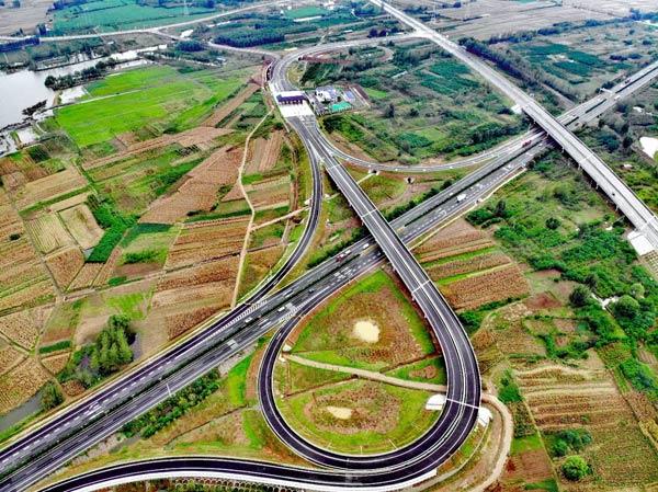 中建三局承建的连霍高速公路吕梁