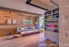 开放式家装设计 木质风格公寓装修