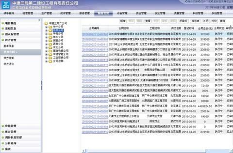 项目管理系统应用界面图&nbsp