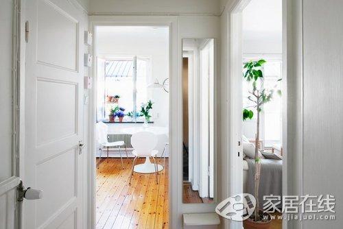 44平北欧单身公寓 阳光满满且花儿朵朵
