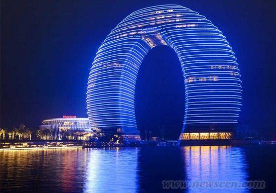 """中国""""甜甜圈""""奢华酒店"""