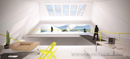 风力涡轮机住宅loft concept