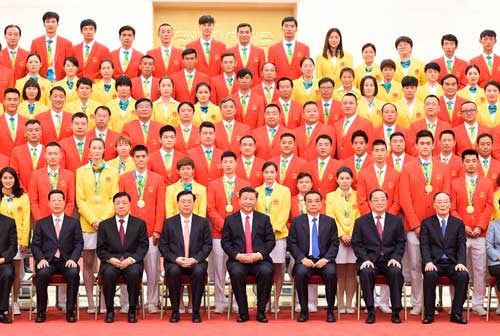 习近平等会见第31届奥林匹