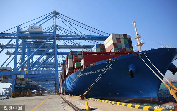 山东港口青岛港全自动化码头(二期)投产运营